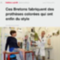 article ouest France ces bretons fabriquent des prothèses colorées qui ont enfin du style