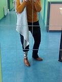 Prothèse tibiale cover assorti à la tenue
