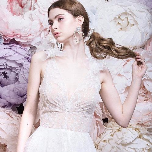 PEONIES FLOWER WALL (pink, lavander, ivory, light blue)