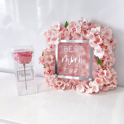 CUSTOM FLOWER FRAME - Special and Unique Peronalized Gift