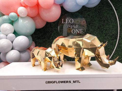 Geo - Rhinoceros (gold centerpiece)