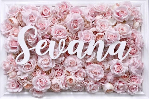 FLORAL FRAME + BABY'S NAME