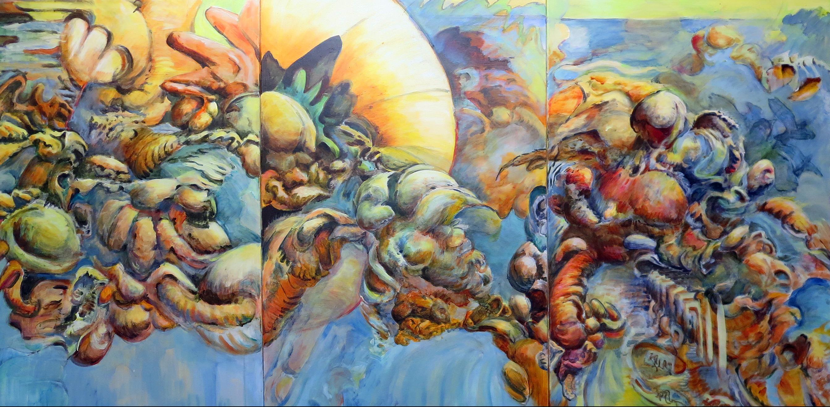 Sunrise First Street (triptych)