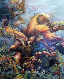 Vishnu Carries Jesus Across the Styx