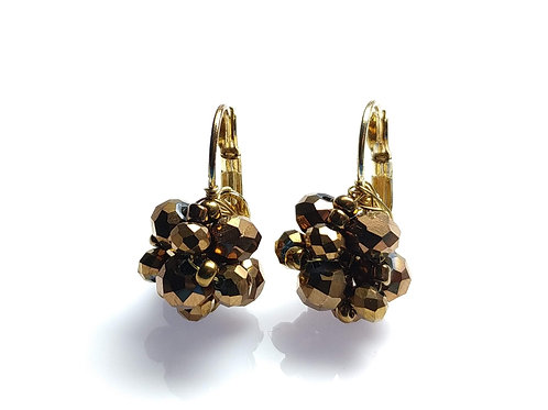 10556 Brinco Naomi, cor: Cristais Bronze