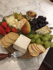French Cheeses and fruit