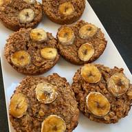 Gluten free Vegan Apple Oat Banana Muffins