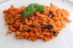 Gluten Free Pasta with Basil Mainara Sauce