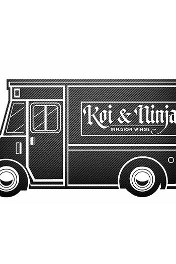 Koi and Ninja Food Truck Design Logo