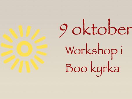 9 oktober – workshop i Boo kyrka