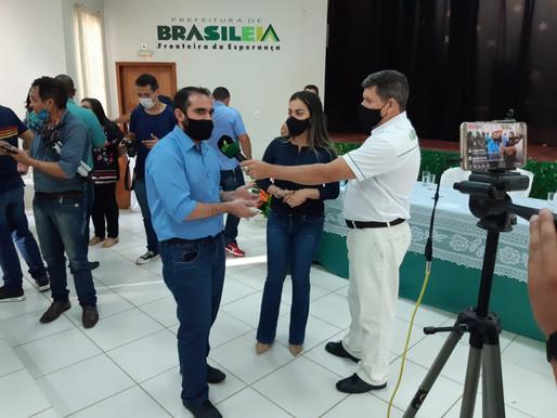 Coordenador Executivo da AMAC participa  da posse dos secretários Municipais de Brasiléia