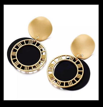 Aretes Gold & Black
