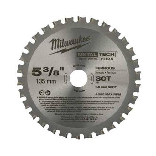 """48-40-4530 Hojas de sierra circulares para corte de metal 8"""" X 60 DPP CORTE EN S"""