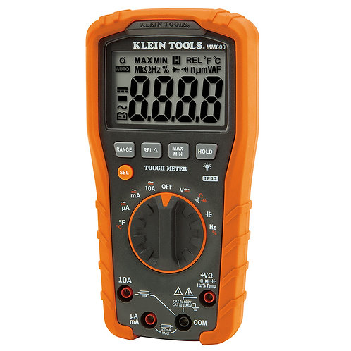 MM600 Multímetro digital 1000V+autorango+ temp