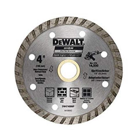 DW47400HP Dewalt Disco Diamantado Turbo 4 x 7/8-5/8 pulg