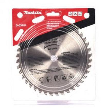 """D-03464 Disco de sierra circular p/aluminio 7-1/4""""  x 5/8"""" x 40 dientes FTG"""