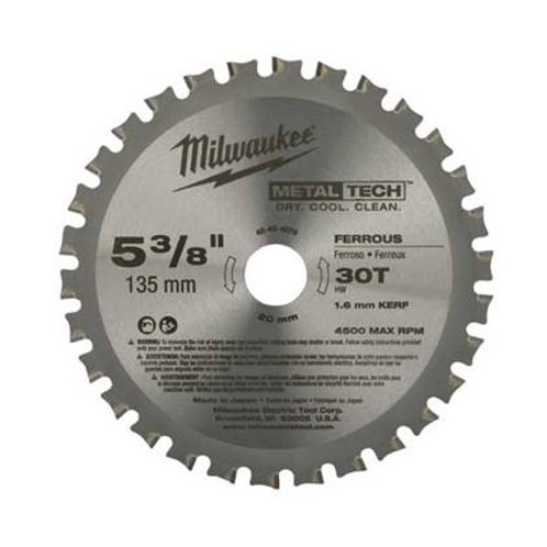 """48-40-4140 Hojas de sierra circulares para corte de metal 7-1/4"""" DE ACERO SIN DP"""