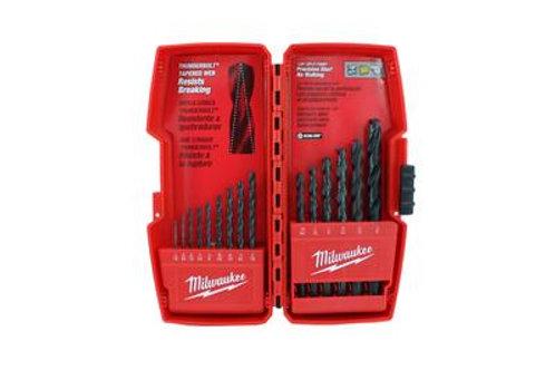48-89-2803 Juego de brocas con acabado de óxido negro Thunderbolt® (15 piezas)