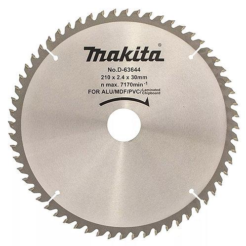 "D-63644 Disco de sierra multiproposito 8-1/4"" x 30mm x 60 dientes"