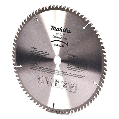 """D-03486 Disco de sierra circular p/aluminio 12"""" x1"""" x 80 dientes TCG"""