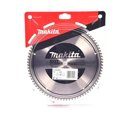 """A-93887 Disco de sierra circular p/aluminio 10"""" x 5/8"""" x 80 dientes TCG"""