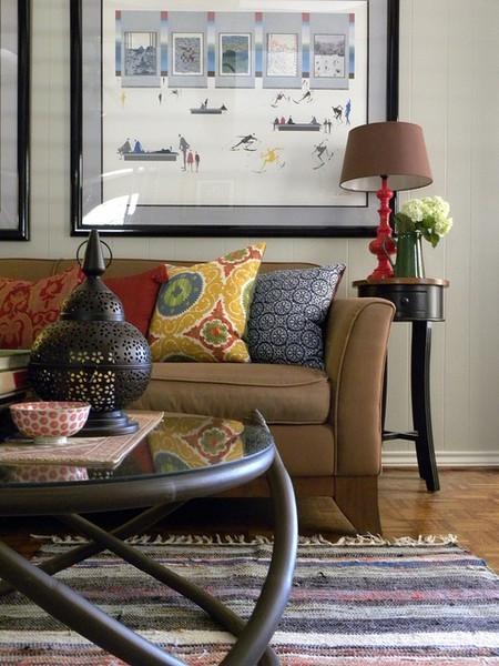 Sarah Greenman eclectic living room
