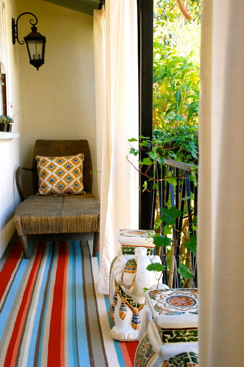 Outdoor reading balcony eclectic porch