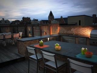 Harlem Rooftop outdoor kitchen- Barlow T