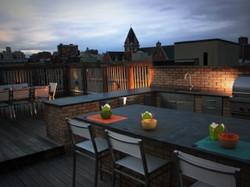 Harlem Rooftop outdoor kitchen- Barlow T
