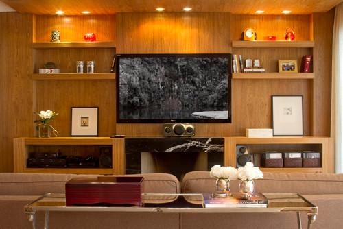 Apt Moema contemporary living room