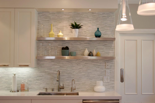 Backsplash detail contemporary kitchen