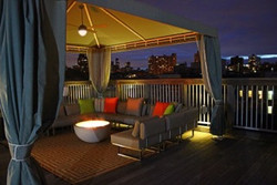 Harlem Rooftop with Cement firepit- Mode