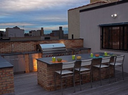 Harlem Roof Top with outdoor kitchen wit