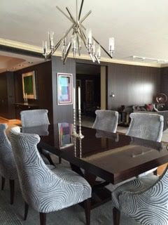 chicago-custom-dinning-room-table-and-custom-grey-upholster-chairs