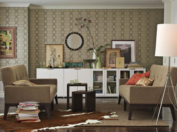 Cowhide-rug-for-living-room-with-dark-hardwood-floors
