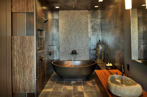 Downtown penthouse asian bathroom