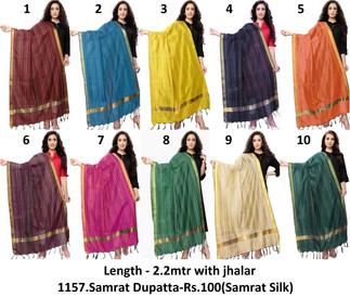 1157.Samrat Dupatta-Rs.100(Samrat Silk)