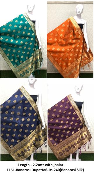 1151.Banarasi Dupatta6-Rs.240(Banarasi Silk)