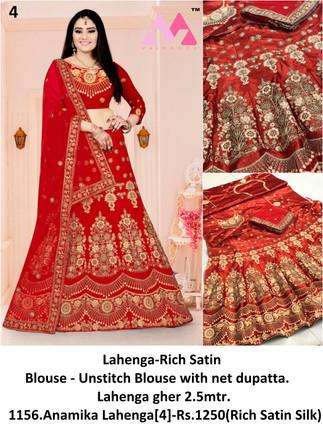 1156.Anamika Lahenga[4]-Rs.1250(Rich Satin Silk)