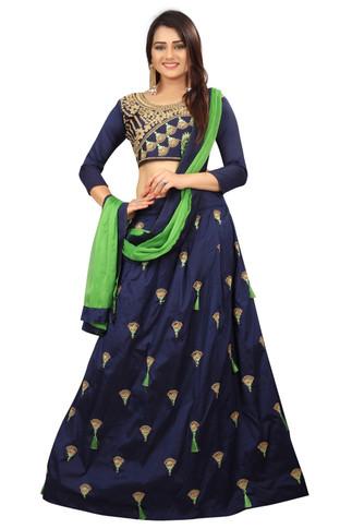 1033.Nidhi_Blue-Rs.350(Tapeta Silk)