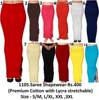 1105.Saree Shapewear-Rs.400(Premium Cotton with Lycra stretchable)