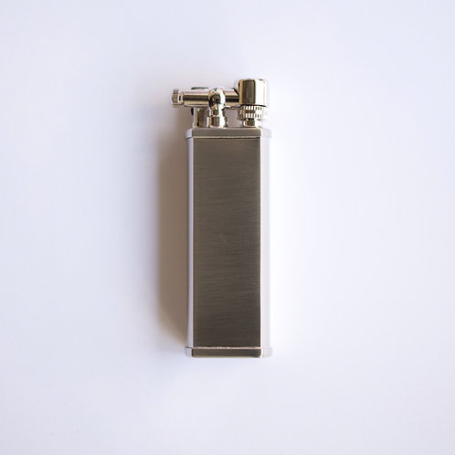 Bolbo Pipe Flame Lighter (silver satin)
