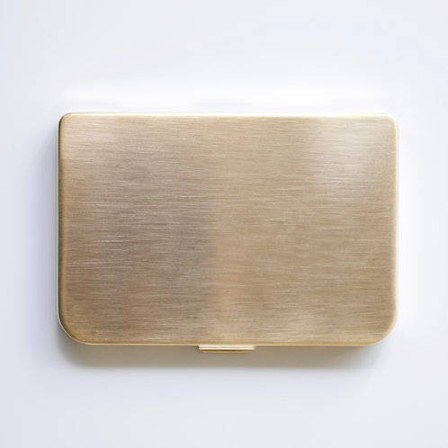 Mirror Card Holder (gold satin)