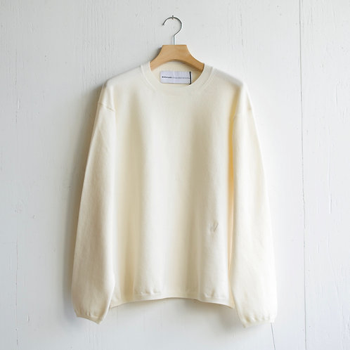 walenode / Australian Wool Stretch Sweater (off white)