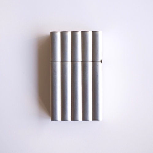 Hard-edge Petrol Lighter / Aluminum wave
