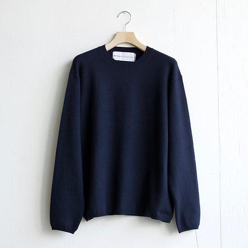 walenode / Australian Wool Stretch Sweater (navy)