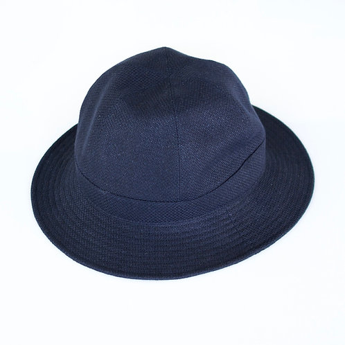niuhans / Heavyweight Linen Broken Washer Hat (navy)
