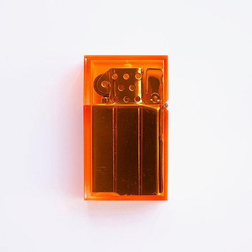 Hard-edge Petrol Lighter / Clear-Colour (orange)