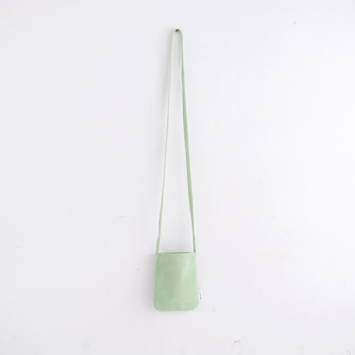 niuhans / Pigskin Suede Mini Pouch (shoulder/Mint Green)