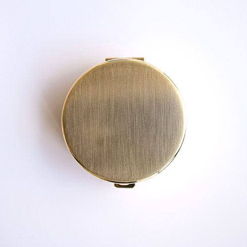 Round Pill Box (gold satin)
